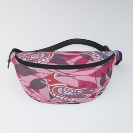 lovely bird cage ecopop Fanny Pack