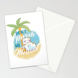 Don't Marsh My Mellow on the Beach Stationery Cards