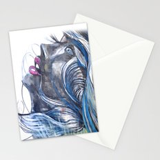 Emo Girl Stationery Cards