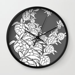 Commission-sea turtles Wall Clock
