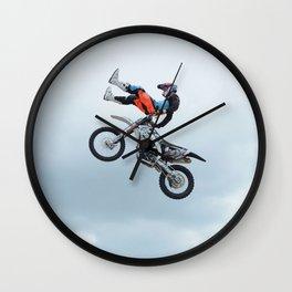 Motocross Shaolin Stunt Jump Wall Clock