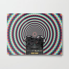 Reel to reel Metal Print