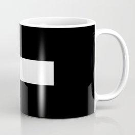 Minus Sign (White & Black) Coffee Mug