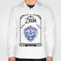 shield Hoodies featuring Zelda legend - Hylian shield by Art & Be