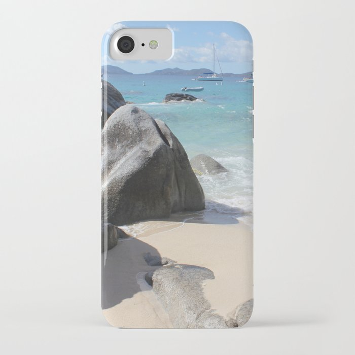 Scenic Beach at The Baths on Virgin Gorda, BVI iPhone Case by Christine aka stine1