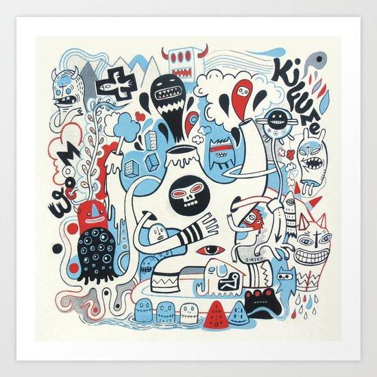 La montagne Kifume  Art Print