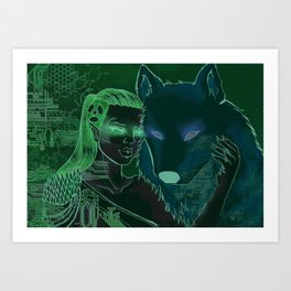 Ghost and wolf Art Print