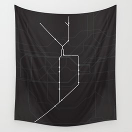 London Underground Northern Line Route Tube Map Wall Tapestry