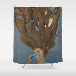 Coffee Brew Fantasy Shower Curtain
