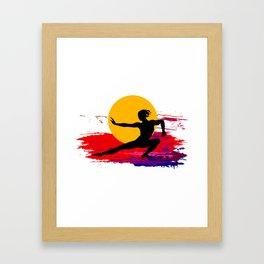 Martial art, karate, judo, aikido, self defence Framed Art Print