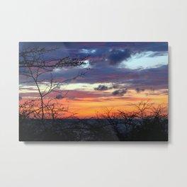 sunset through thornes Metal Print