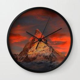 Matterhorn Alps Switzerland Wall Clock