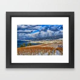 Okanagan Valley Winter Vineyard Framed Art Print