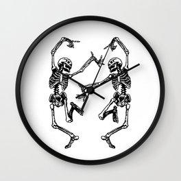 Duo Dancing Skeleton Wall Clock
