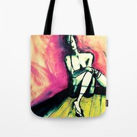 transparent Tote Bags featuring Transparent by Helen Syron