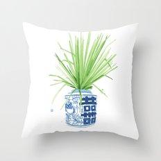 Ginger Jar + Fan Palm Throw Pillow