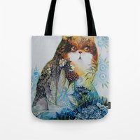 fairy Tote Bags featuring Fairy - Cat by oxana zaika