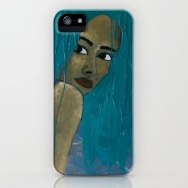 EVEN MY HAIR IS CRYING iPhone Case
