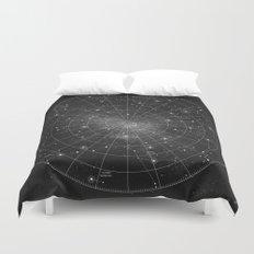 Constellation Star Map (B&W) Duvet Cover