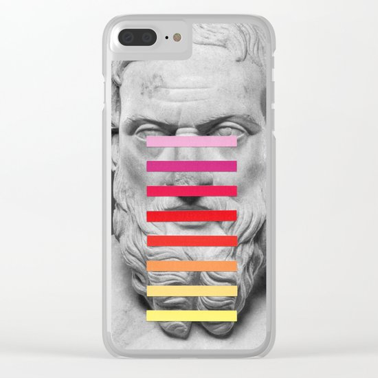Sculpture With A Spectrum 2 Clear iPhone Case