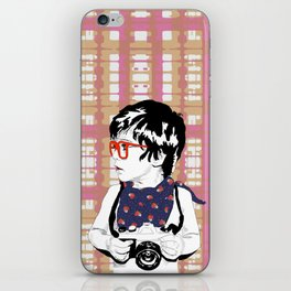 Red Glasses iPhone Skin