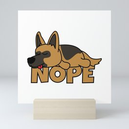 Nope German Shepherd Mini Art Print