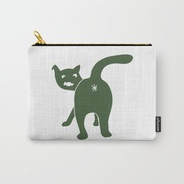 Funny Chonk Cat Green 015 Carry-All Pouch