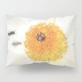 """Bee and Prickly Poppy 3"" by Murray Bolesta! Pillow Sham"