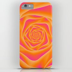 Orange and Pink Rose Spiral iPhone 6 Plus Slim Case