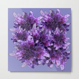 CLUSTERS PURPLE QUARTZ CRYSTALS Metal Print