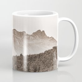 The mountain beyond the forest Coffee Mug