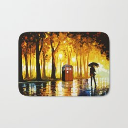 Tardis Phone Both With People Stay Alone Bath Mat