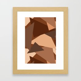 Chocolate Caramels Triangles Framed Art Print