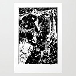 Fishmonsters in Love Art Print