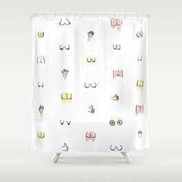 more butts and boobies Shower Curtain