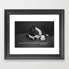 Puppy Love Rudyard Kipling Quote Framed Art Print
