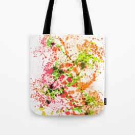 Outlandish Orange - Abstract Splatter Style Tote Bag
