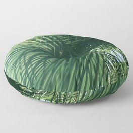 Exquisite Tropical Palm Leaves In Regal Display Floor Pillow