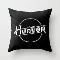 hunter Throw Pillows featuring Hunter by Barn Bocock