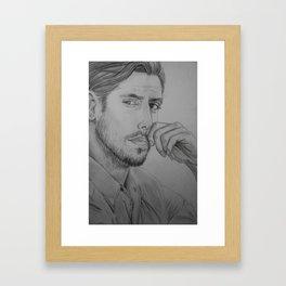 Milo Ventimiglia - Peter Petrelli Drawing Framed Art Print
