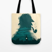 sherlock holmes Tote Bags featuring Sherlock Holmes by Electra