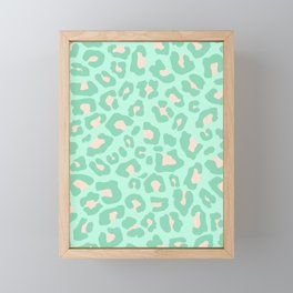 Leopard Print 2.0 - Neo Mint Framed Mini Art Print