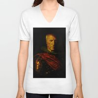 picasso V-neck T-shirts featuring King Picasso by Joe Ganech