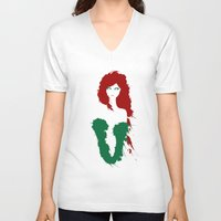 poison ivy V-neck T-shirts featuring Poison Ivy by Williams Davinchi