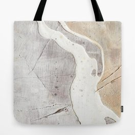 Feels: a neutral, textured, abstract piece in whites by Alyssa Hamilton Art Tote Bag