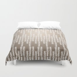 Eye of the Magpie tribal style pattern - champagne Duvet Cover