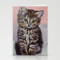 kitten Stationery Cards featuring Kitten by Michael Creese