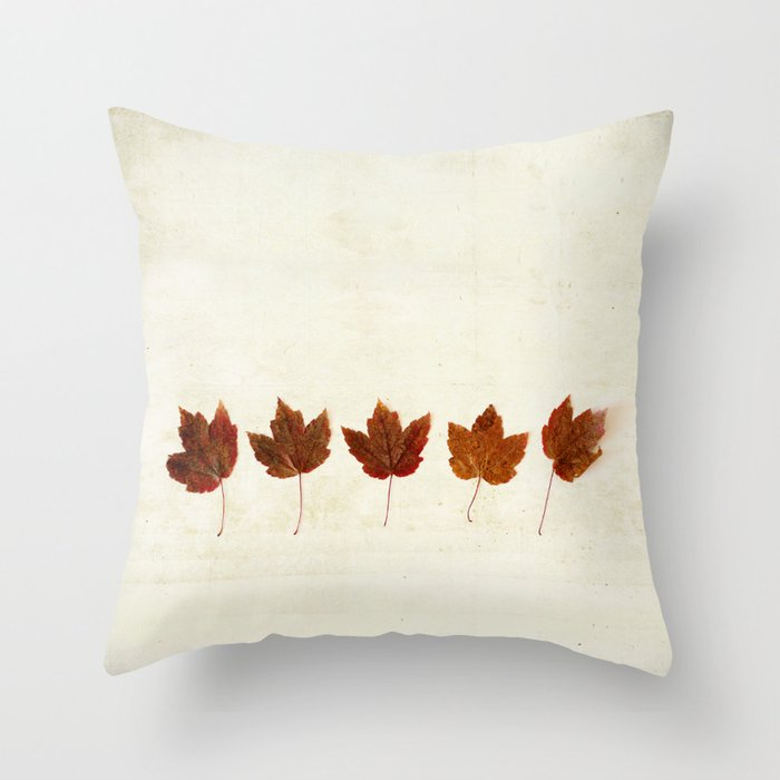 Modern Maples Pillow : Little Maples Throw Pillow by kellynphotography Society6