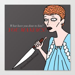 Female Trouble Series: Rosemary Woodhouse from Rosemary's Baby Canvas Print