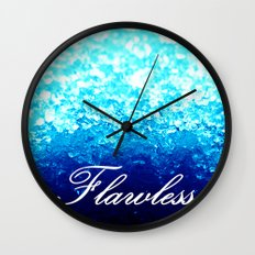 FLAWLeSS Turquoise Crystals Wall Clock